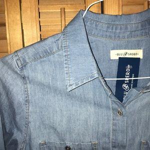 [[[[SOLD]]]] NWT Blu Spero Demin Shirt